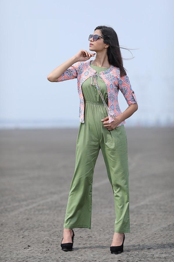 Mahendi Jumpsuit Casual Wear Western Wear Print Koti