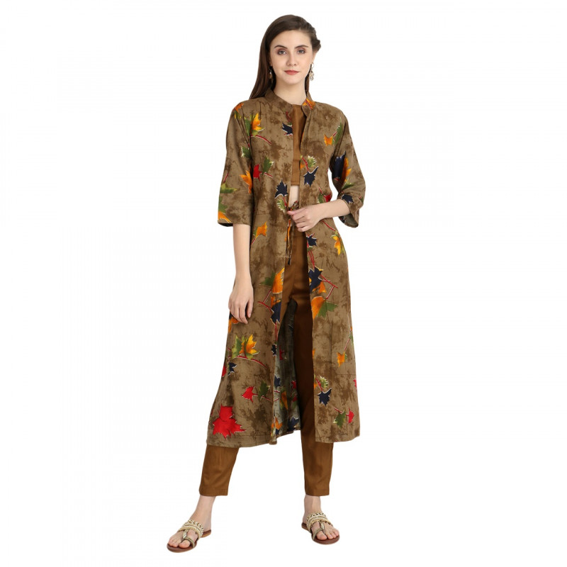 Ethnic Jacket, Blouse and Palazzo/Trouser Set