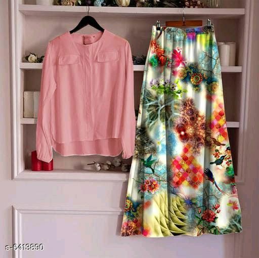 Top With Long Skirt Set 3_Pink