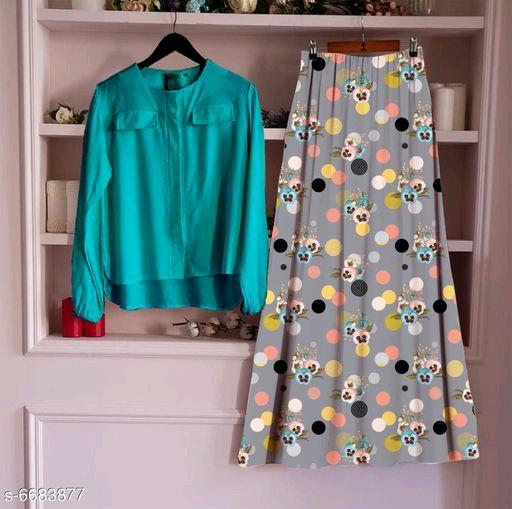 Women's Rayon Top With Long Skirt Set  5_Rama