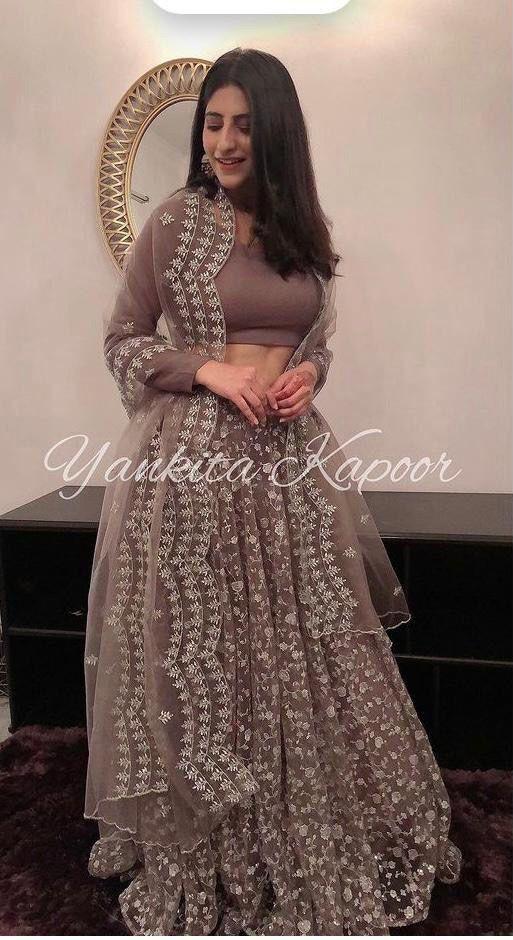Light Brown Yankita Kapoor  Designer lehenga-choli Choli