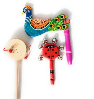 Baby Rattle Handmade Musical Infant and toddlers Toys set for Boys Girls young kids and children