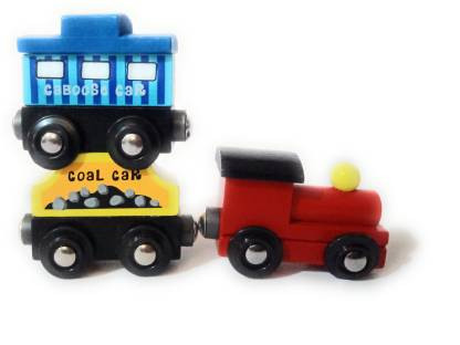 Eco Friendly Indian Wooden Magnetic Train Toy Set