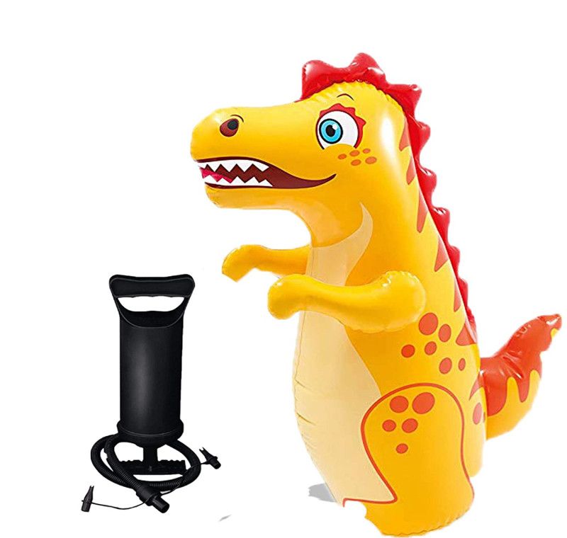 Hit Me Toy for Kids 3D Inflatable Bouncer Toy Toddlers Punching Bag for Children for Baby Crocodile with Pump