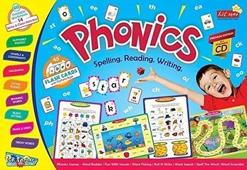 Phonics Games Educational Activity for Kids Spelling Reading Writing Aids Word Builder Word Screamble