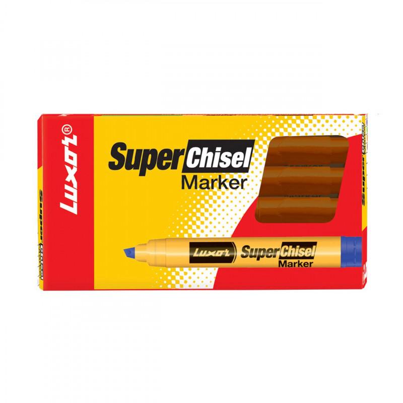 Luxor 997 Super Chisel Marker Brown Box of 50