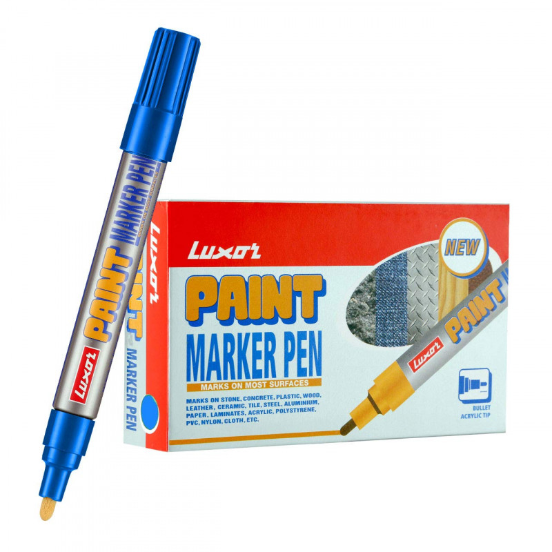 Luxor 902 Paint Marker Blue Box of 10