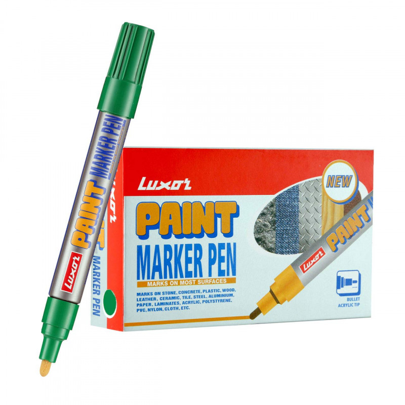 Luxor 902 Paint Marker Green Box of 10