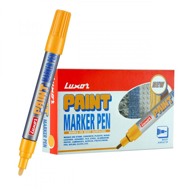 Luxor 902 Paint MarkerYellow Box of 10
