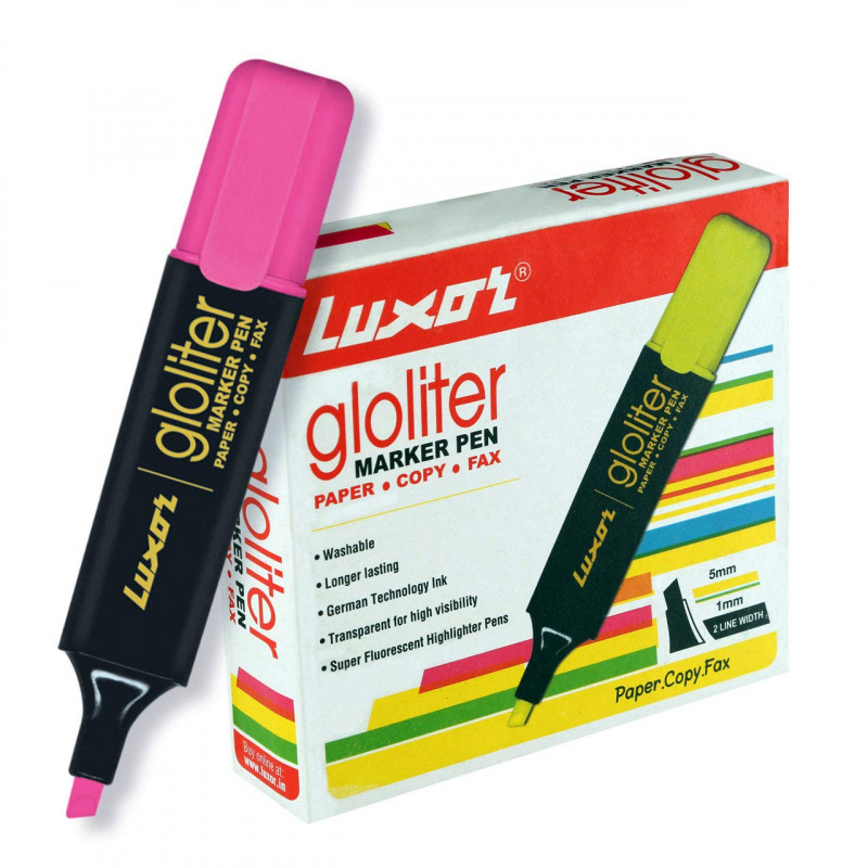 Luxor 887 N Highlighter Pink Box of 10