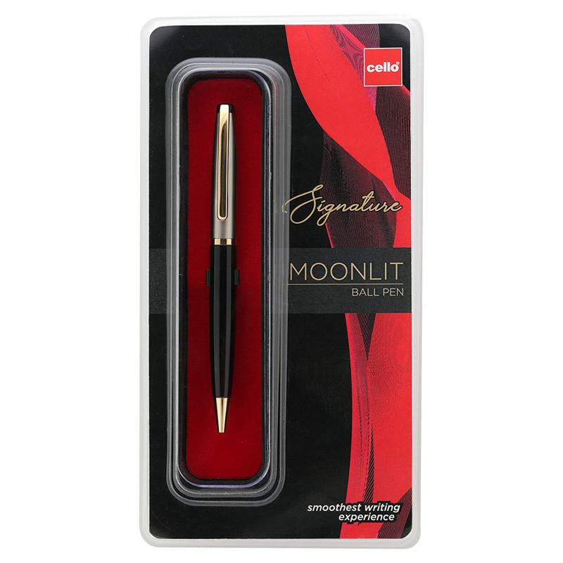 Cello Signature Moonlit Ball PenBluePremium metal pens for gifting occasions 5 pics combo