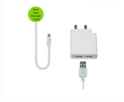 ERD TC 75 Micro Dual USB Charge 3AMP Dual Micro Charger For Android Mobile