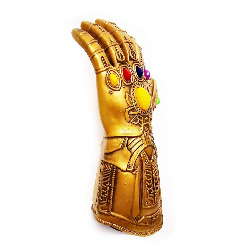 Thanos RG 0801 Gauntlet Button Flexible Finger Movement Infinity War PVC Electronic Fist Halloween