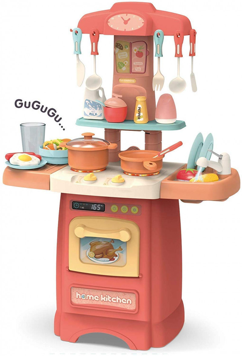 pretended 29piece kitchen set music real water tap actually fell of kitchen for your kids