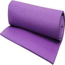 Estacell Yoga Mat AntiSlip Yoga Mat for Women Mat for Gym Workout and Flooring Exercise 6 MM Purpel