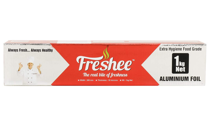 Freshee 1kg Aluminium Silver Kitchen Foil Roll Paper Pack of 2 18 Micron