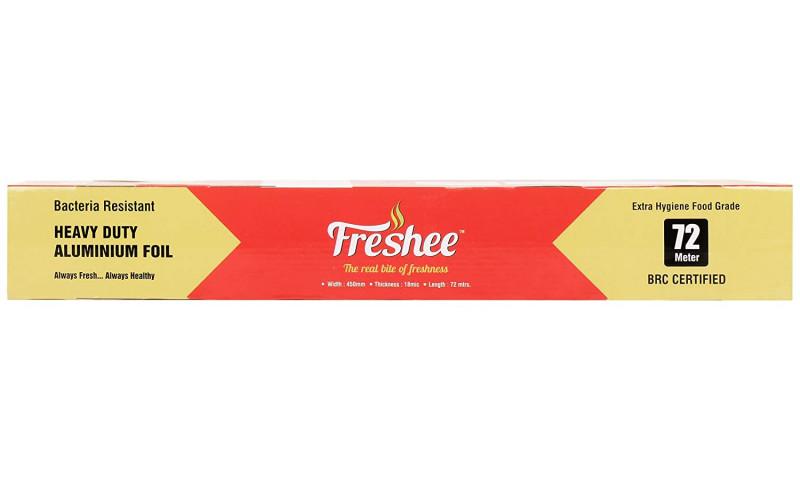 Freshee 72m Heavy Duty Aluminium Silver Kitchen Foil Roll Paper18 Micron