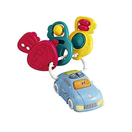 Baby Musical Car Set With Key Sound Effect Toy Blue In Colour
