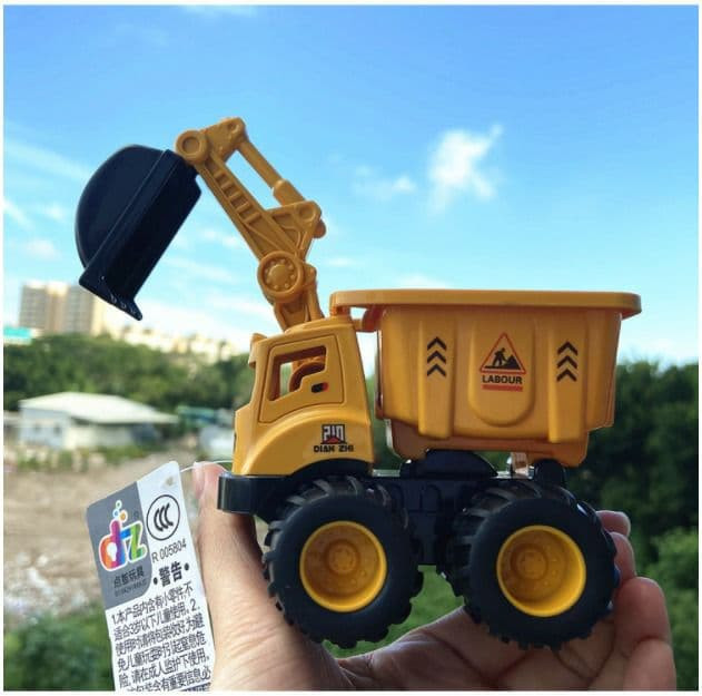 Kids Toys Friction Truck Flexible Movable With Dig And Dump 2 In 1