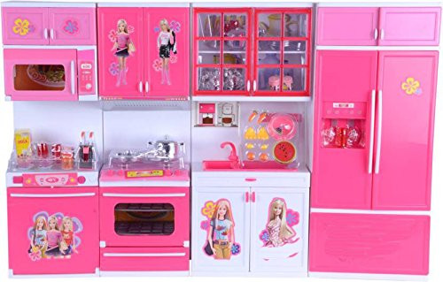 Kids Barbie Kitchen Play Set 30pcs Set Especial For Girls