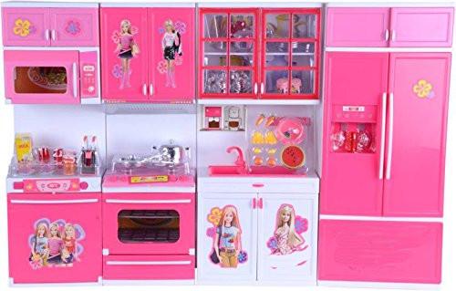Kids Barbie Kitchen Play Set 30pcs Set Especial For Girls