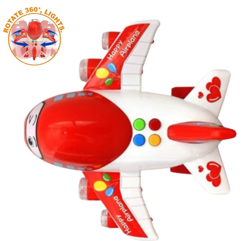 Kids Happy Airplane Cute Funny Toy With High Speed And 360 Degree Rotation