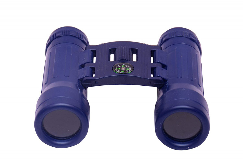 Kids Action Binoculars Toy with inbuilt Compass for Kids Blue Colour