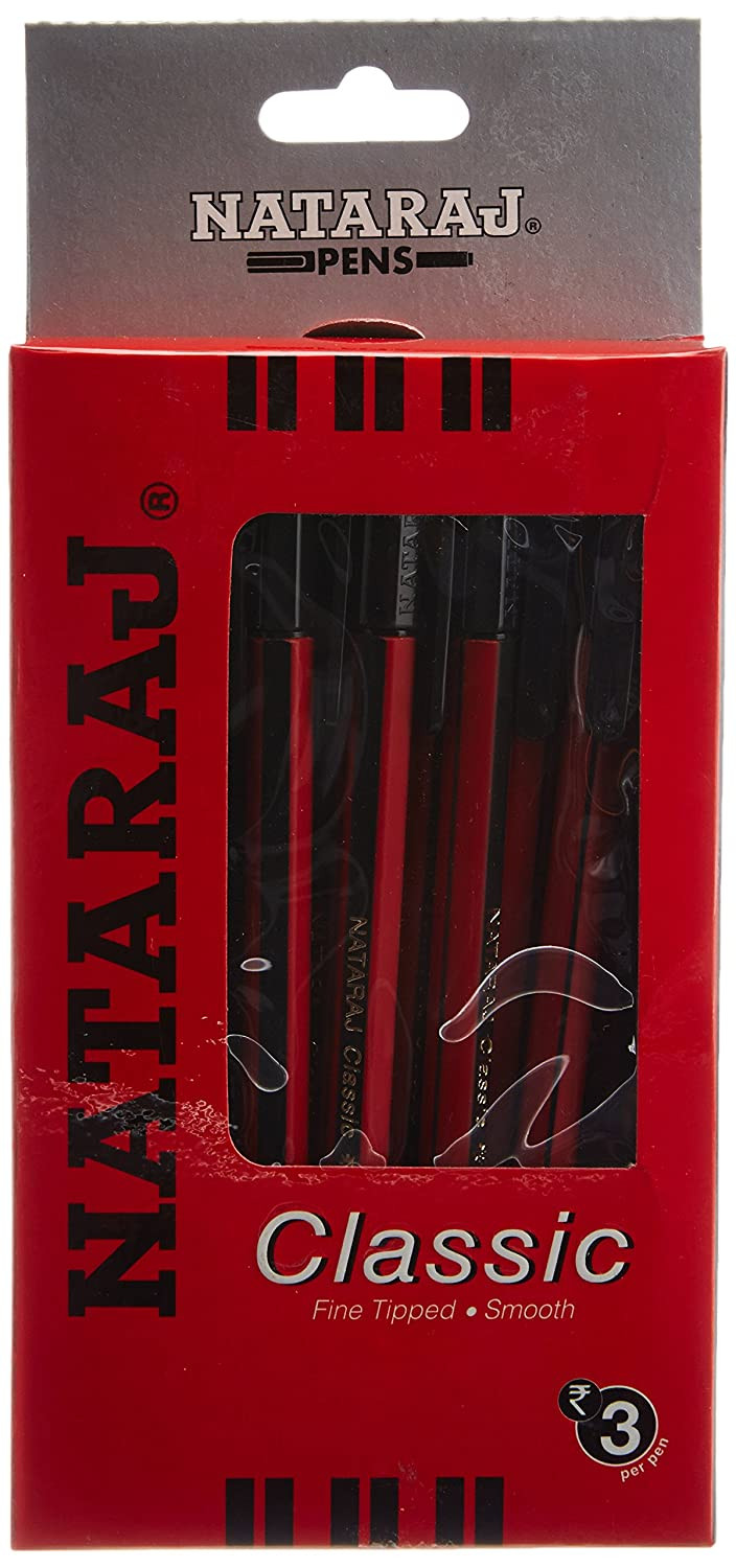 Nataraj Classic Red Ball Pens - Pack of 20