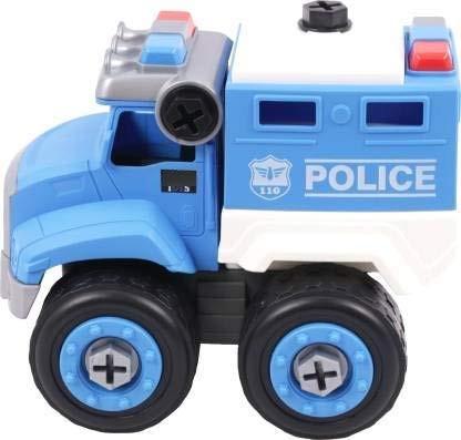 Kids ToysPolice Truck Toys DissembledAssembled Service Vehicle