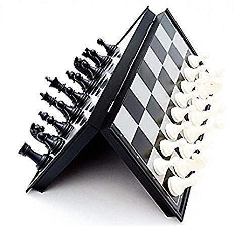 Magnetic Educational Toys Travel Chess Set with Folding Board for Kids and Adults