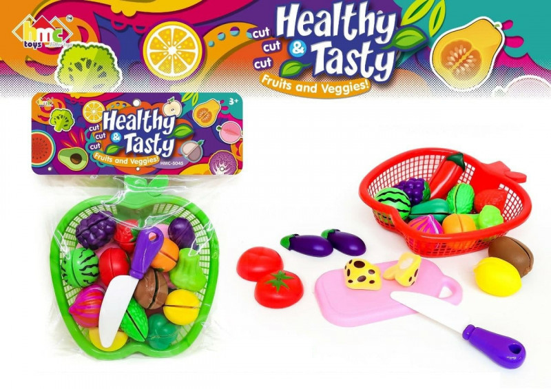Fruits and Vegetable Cutting Toys for Kids 14 pcs set