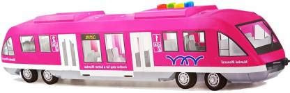 Mumbai Monorail Train Toy for Kids Big Size Train Set for Kids Pink Colour