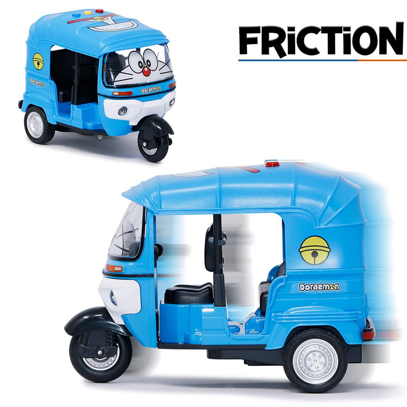 Toy Friction Powered Toys for Kids Auto Ricksaw Toy Blue Colour