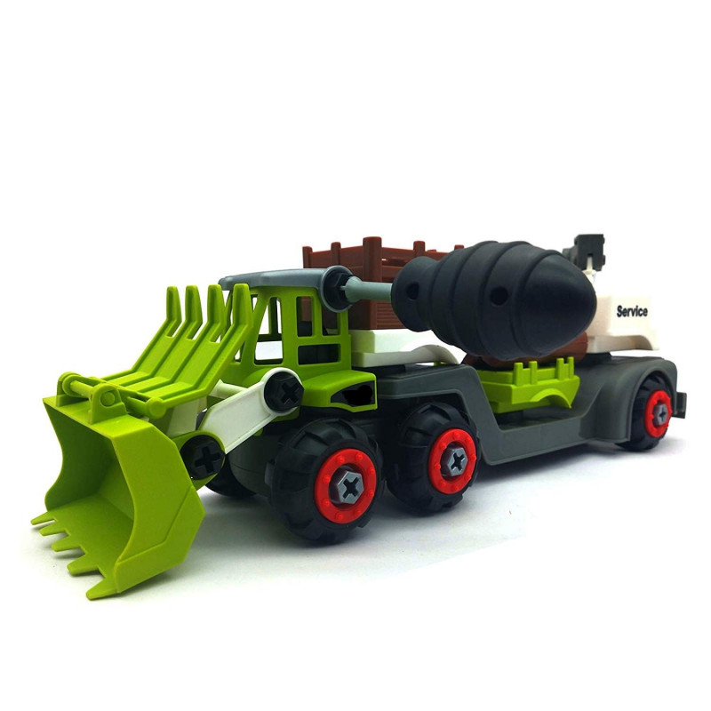 DIY Assembly Multi Functional Farmer Farm Truck Building Toy with Screw Driver