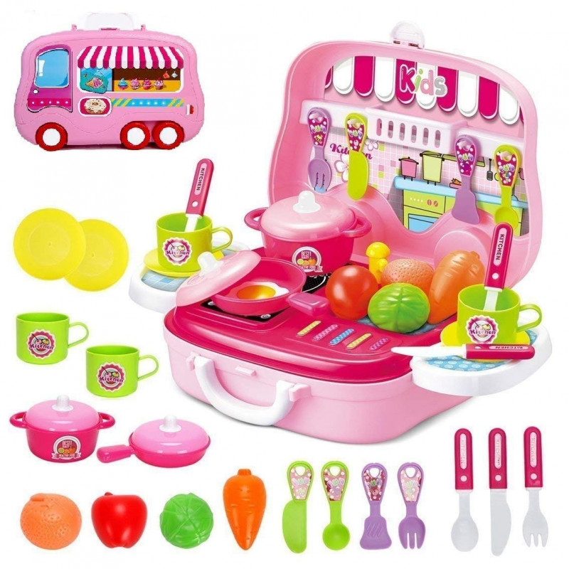 Little Chef Kitchen Set for Kids in Chef Carry case