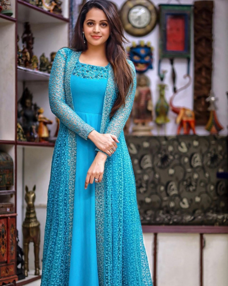 Classic Ethnic Sky Blue Colour Gown with Koti
