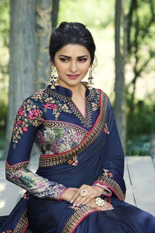 Marvellous Glowing Blue Colour Festival Wear Silk Saree With Blouse