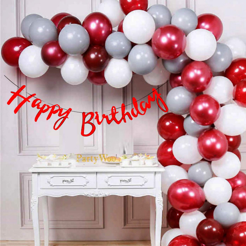 Happy Birthday Decoration Set Of 46 Combo Set Of Balloon And Banner
