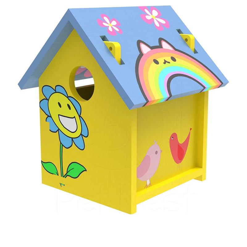 BackToNest  Art Craft Wood Toys 3D Painting Puzzle Bird House