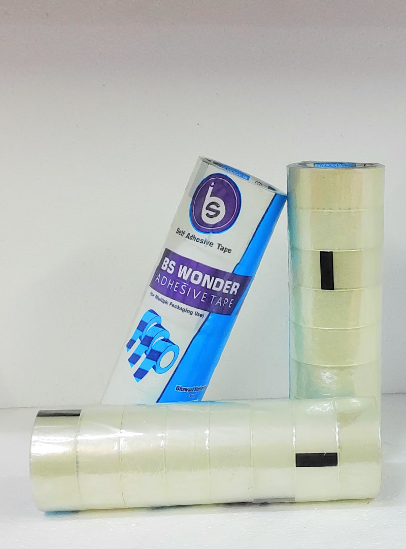 B.S. Wonder Adhesiv Tap RollTransparent 1.5Inch Pack Of 4Roll In 32Pcs
