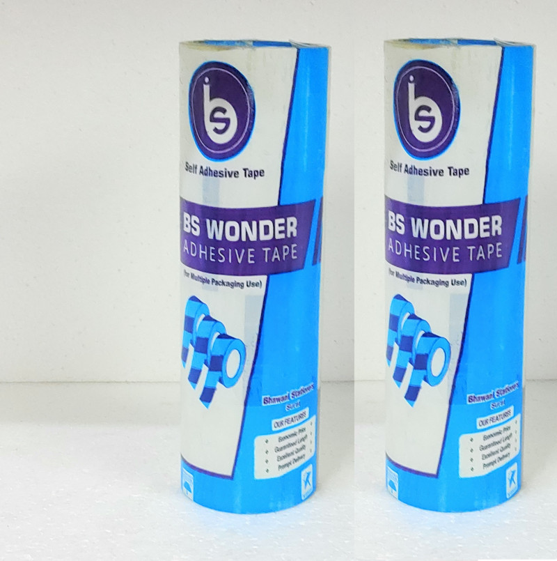 B.S. Wonder Adhesiv Tap RollTransparent 2 Inch Pack Of 2Roll In 8Pcs