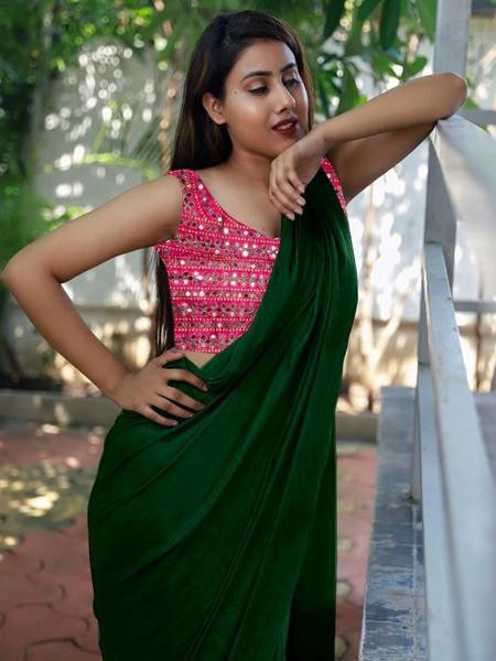 Desiring Festival Wear Saree With Blouse