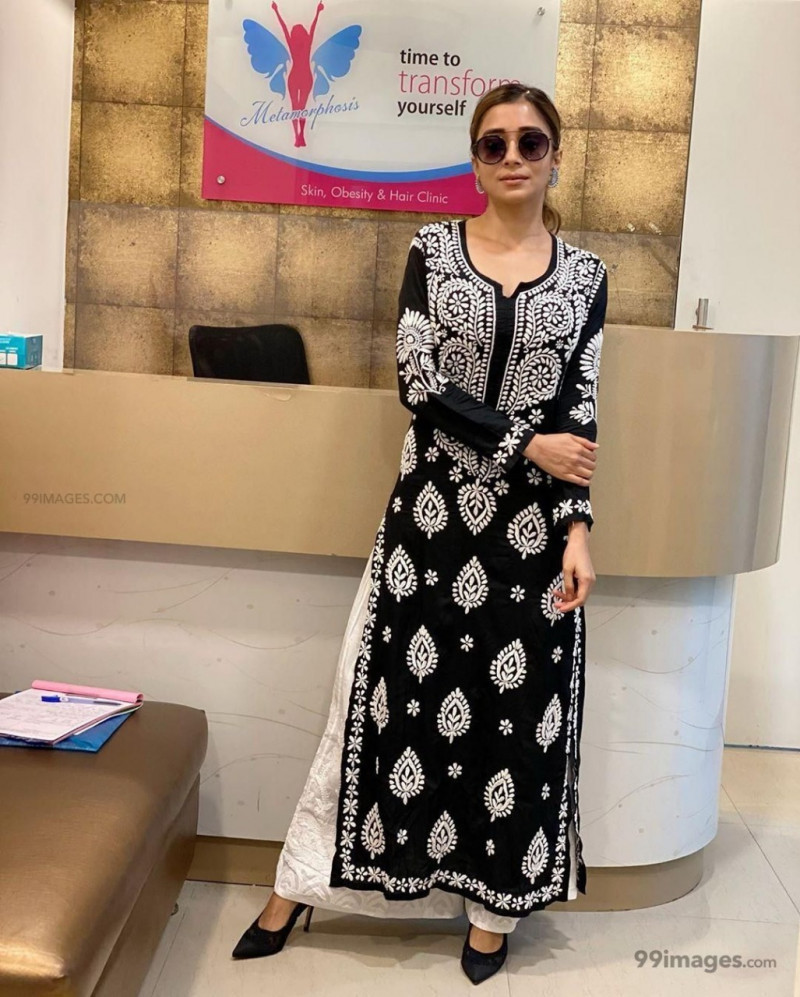 Good Looking Black Colour Rayon Palazzo Suit