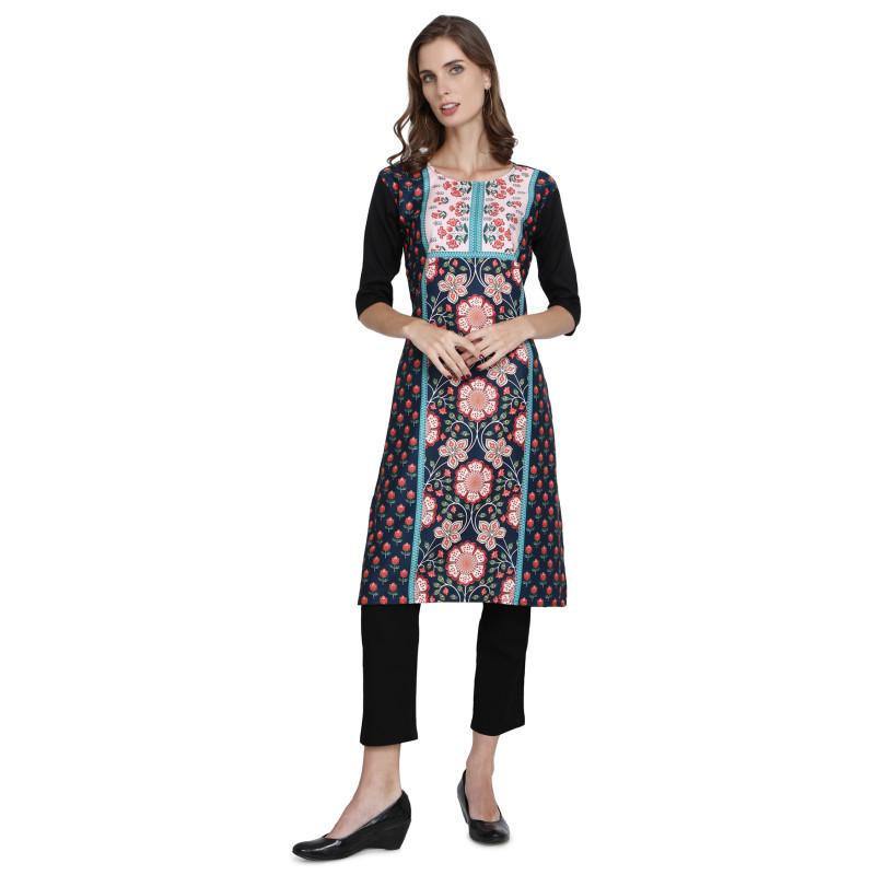 Graceful Graceful Crepe Multi Colour Kurti