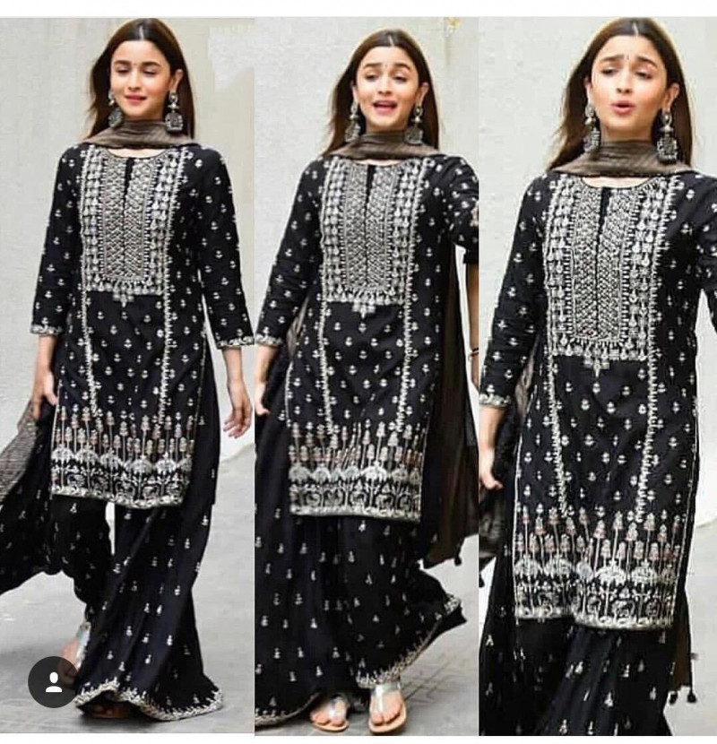 Bollywood Style Black Plazo Suit