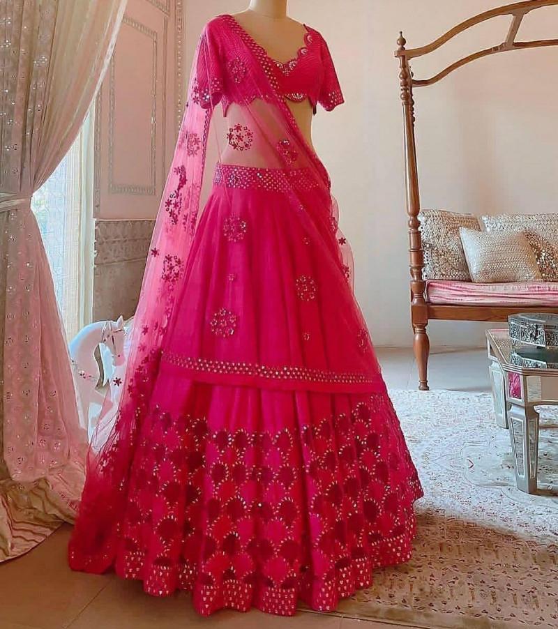 Glorius  Fancy Pink Color Lehenga Choli With Blouse