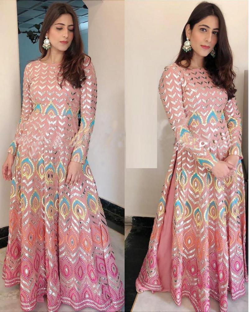 Yankita Kapoor Peach Gown Online in Low Rate