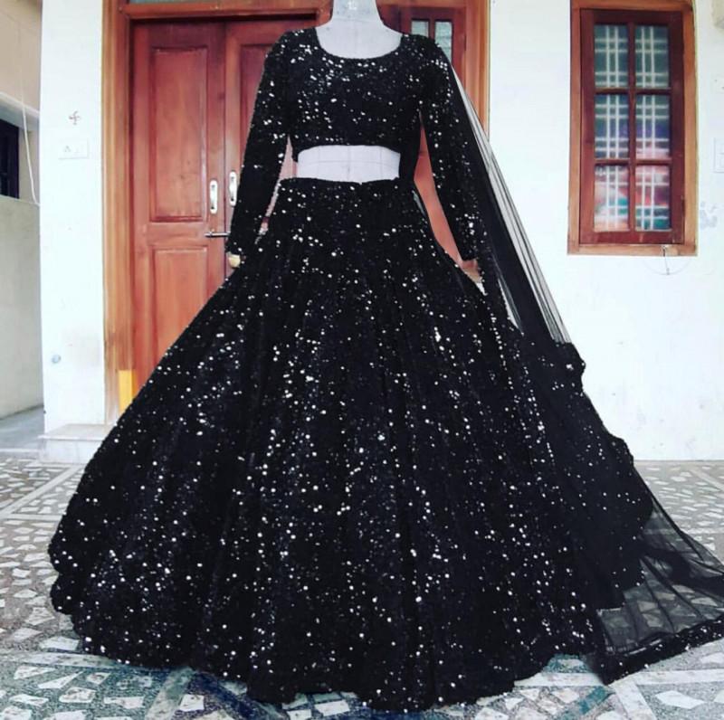 Marvelous Black Sequence Work Lehenga Choli