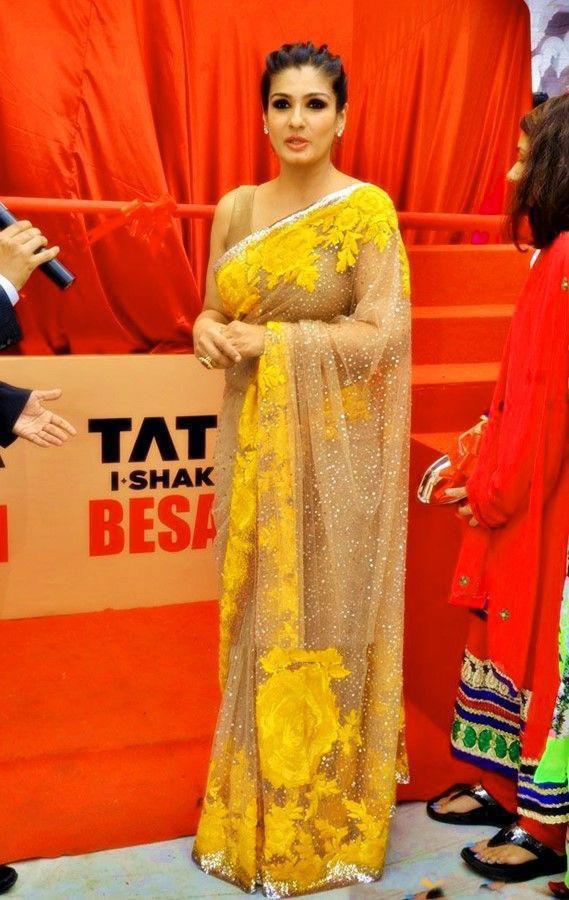 Stylish Yellow Party Wear Saree Online