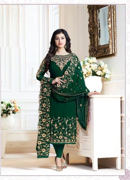 Ayesha Takia Latest Dark Green Color Salwar Suit